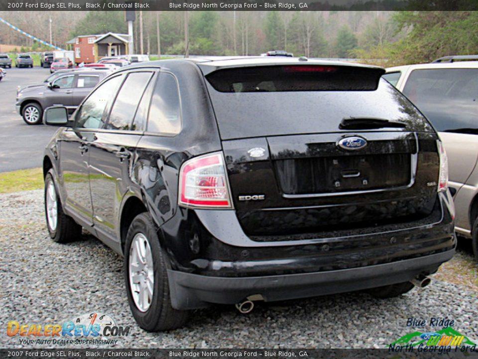 2007 Ford Edge SEL Plus Black / Charcoal Black Photo #3