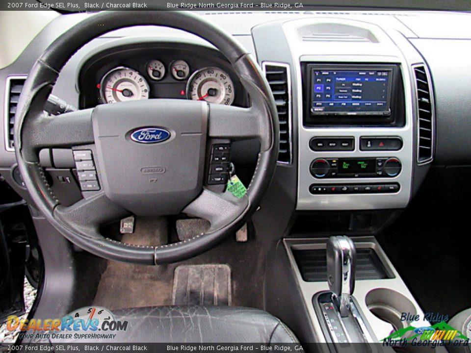 2007 Ford Edge SEL Plus Black / Charcoal Black Photo #9