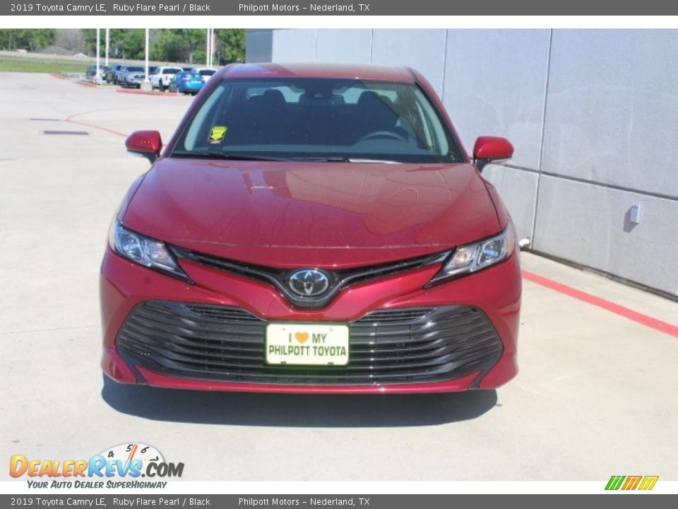 2019 Toyota Camry LE Ruby Flare Pearl / Black Photo #3