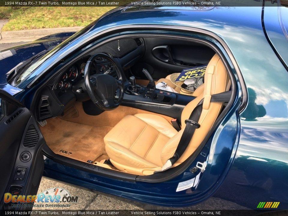 Tan Leather Interior - 1994 Mazda RX-7 Twin Turbo Photo #3