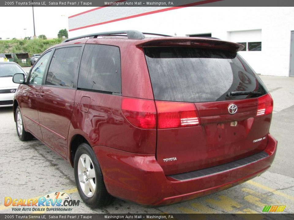 2005 Toyota Sienna Le Salsa Red Pearl Taupe Photo 3