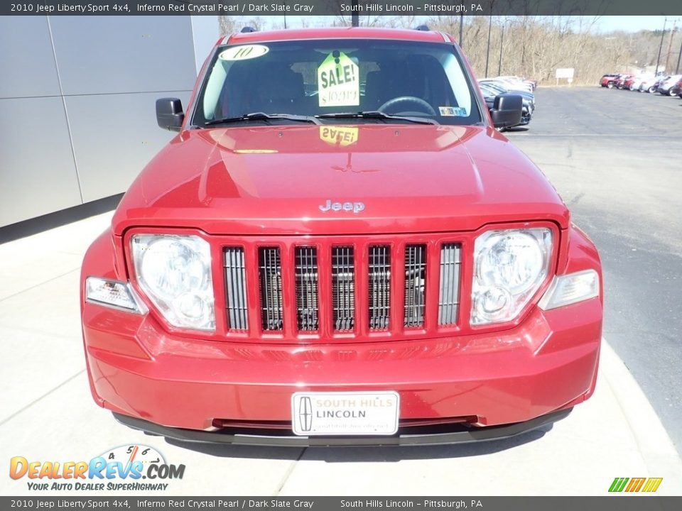 2010 Jeep Liberty Sport 4x4 Inferno Red Crystal Pearl / Dark Slate Gray Photo #9