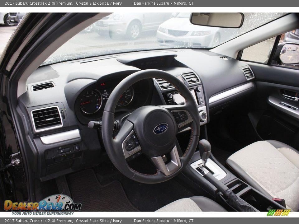 2017 Subaru Crosstrek 2.0i Premium Crystal Black Silica / Ivory Photo #10