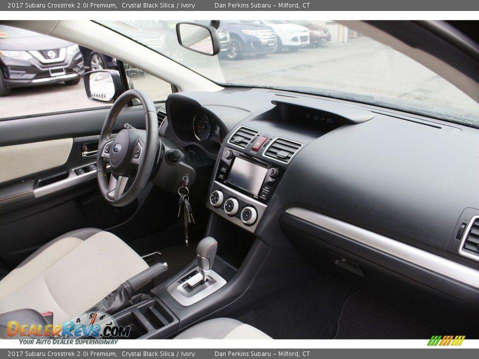 2017 Subaru Crosstrek 2.0i Premium Crystal Black Silica / Ivory Photo #15