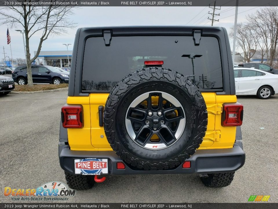 2019 Jeep Wrangler Unlimited Rubicon 4x4 Hellayella / Black Photo #6