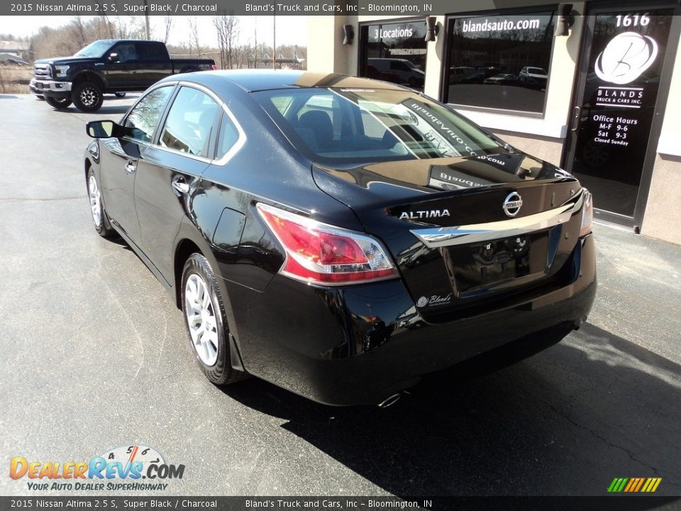 2015 Nissan Altima 2.5 S Super Black / Charcoal Photo #3