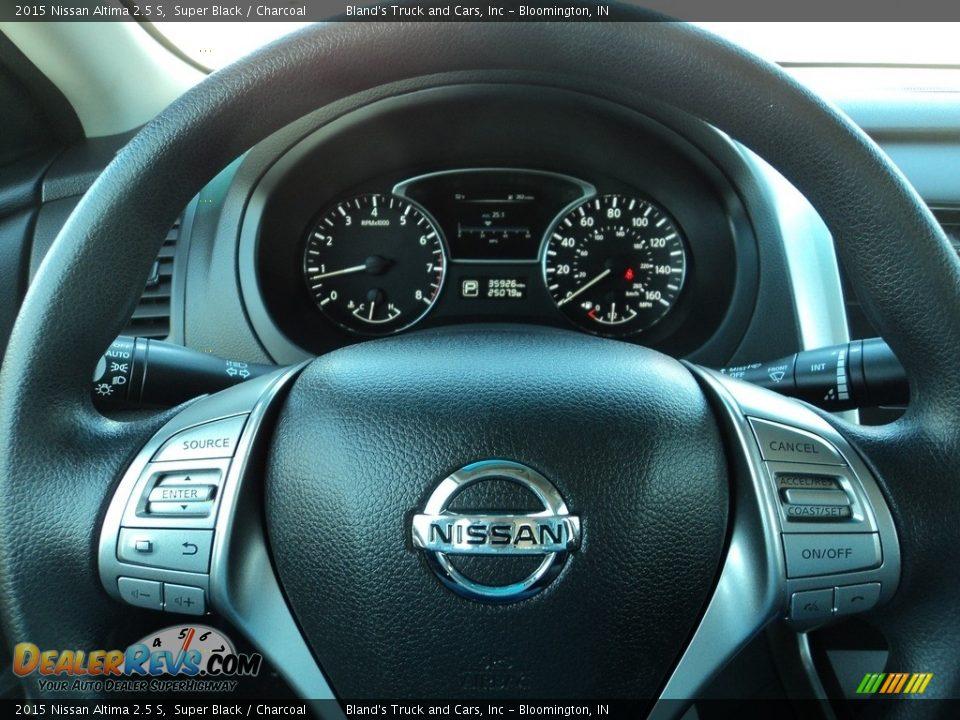 2015 Nissan Altima 2.5 S Super Black / Charcoal Photo #12
