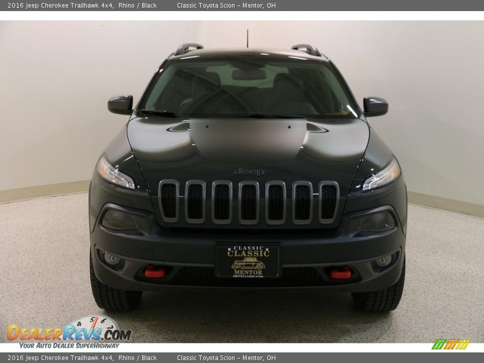 2016 Jeep Cherokee Trailhawk 4x4 Rhino / Black Photo #2