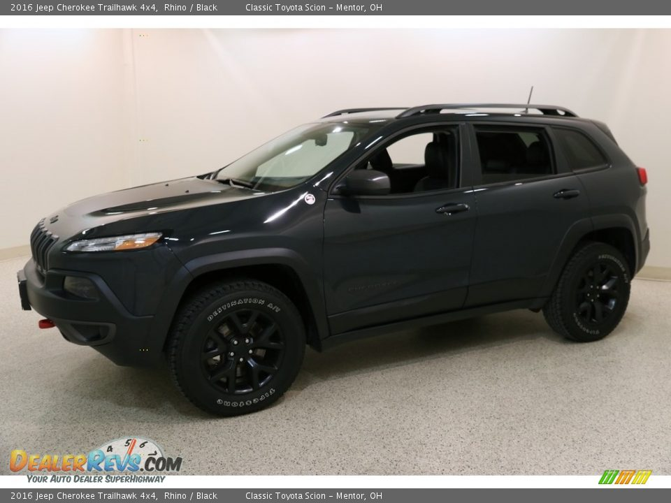 2016 Jeep Cherokee Trailhawk 4x4 Rhino / Black Photo #3