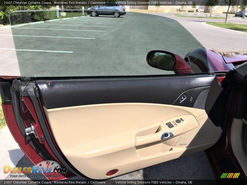 2007 Chevrolet Corvette Coupe Monterey Red Metallic / Cashmere Photo #6