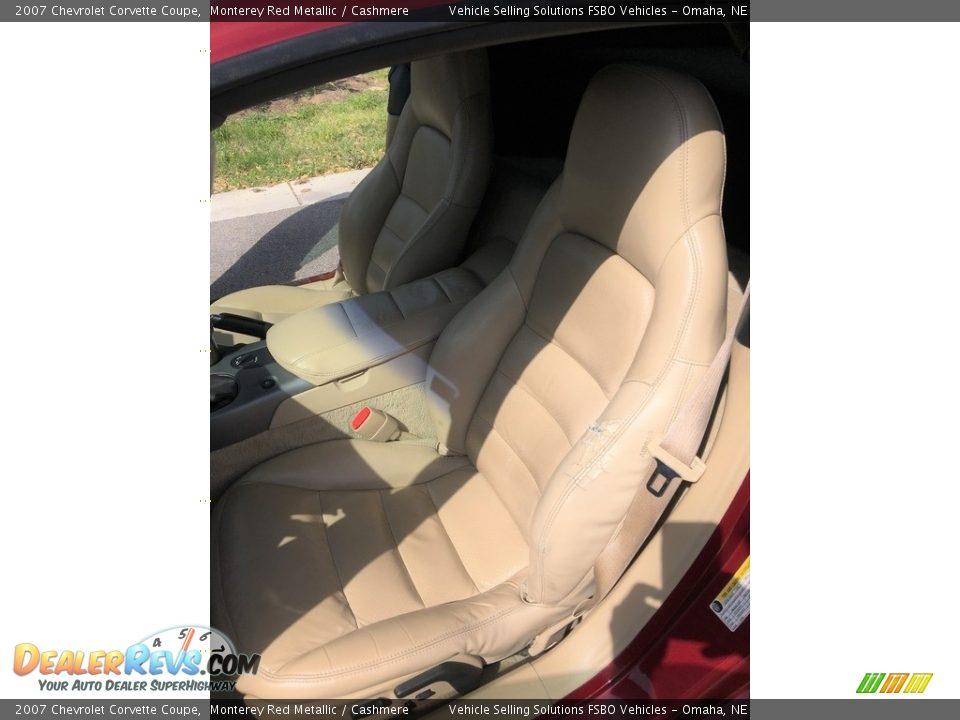 2007 Chevrolet Corvette Coupe Monterey Red Metallic / Cashmere Photo #7