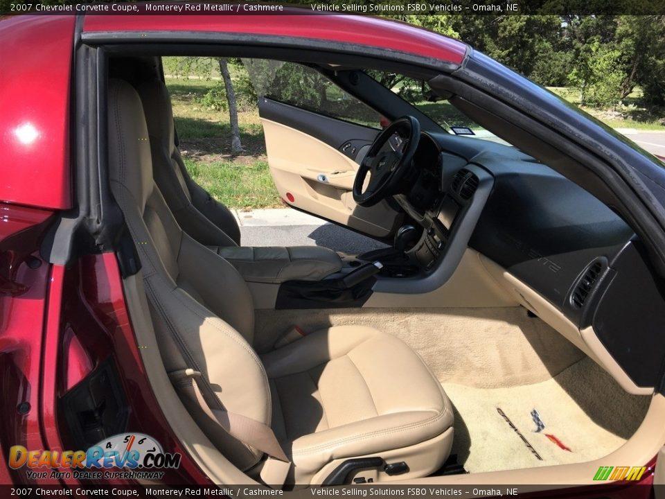 2007 Chevrolet Corvette Coupe Monterey Red Metallic / Cashmere Photo #10