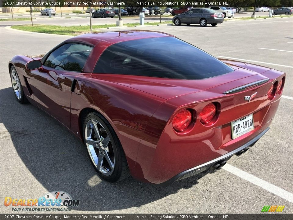 2007 Chevrolet Corvette Coupe Monterey Red Metallic / Cashmere Photo #16