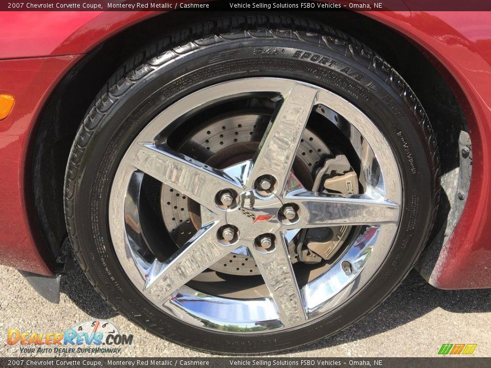 2007 Chevrolet Corvette Coupe Monterey Red Metallic / Cashmere Photo #20