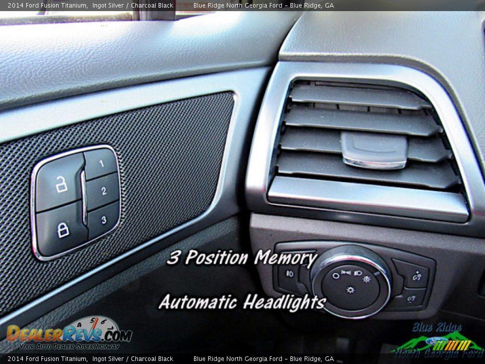 2014 Ford Fusion Titanium Ingot Silver / Charcoal Black Photo #22