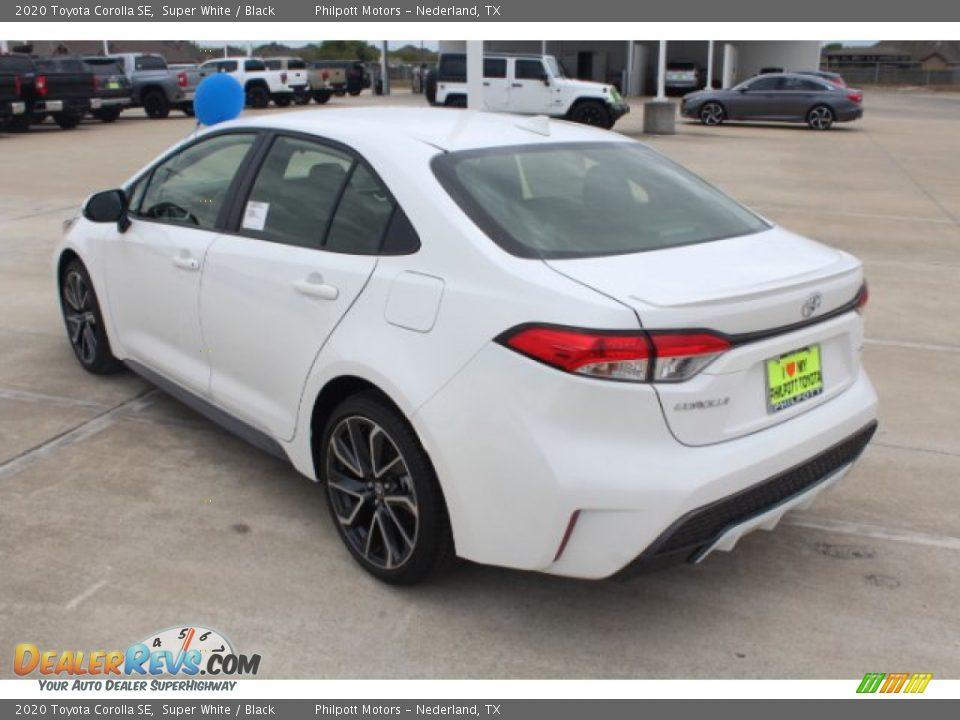 2020 Toyota Corolla SE Super White / Black Photo #6