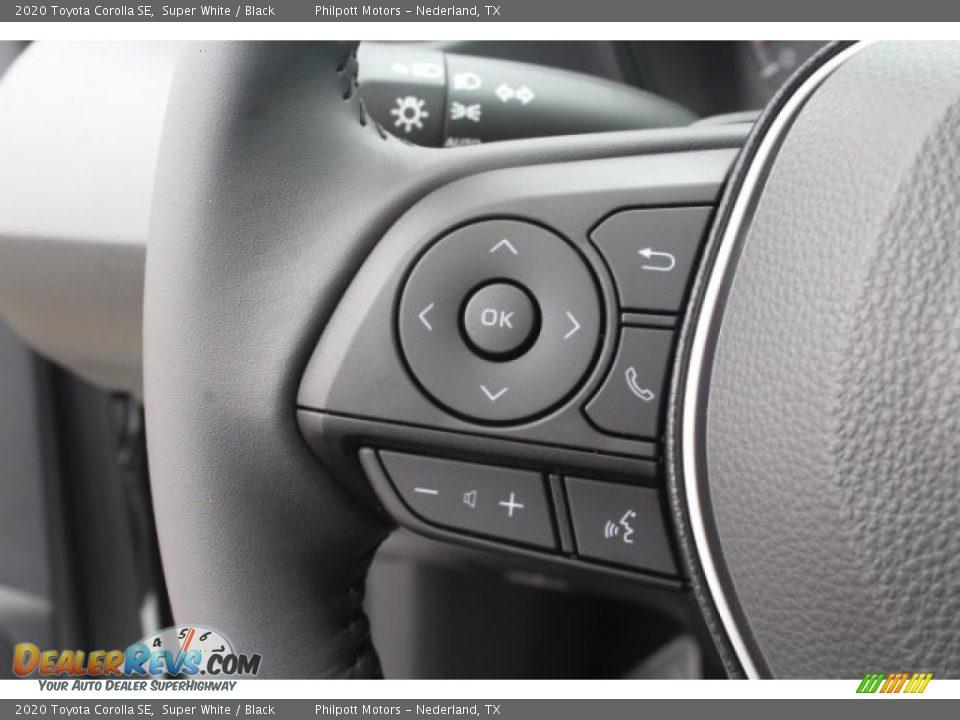 2020 Toyota Corolla SE Super White / Black Photo #14