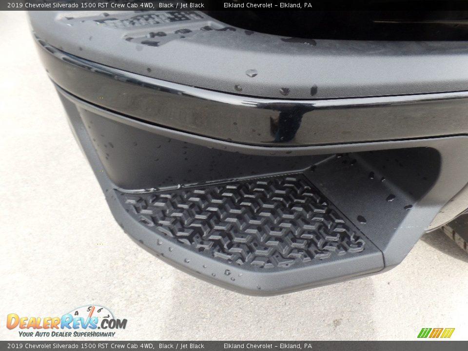 2019 Chevrolet Silverado 1500 RST Crew Cab 4WD Black / Jet Black Photo #18