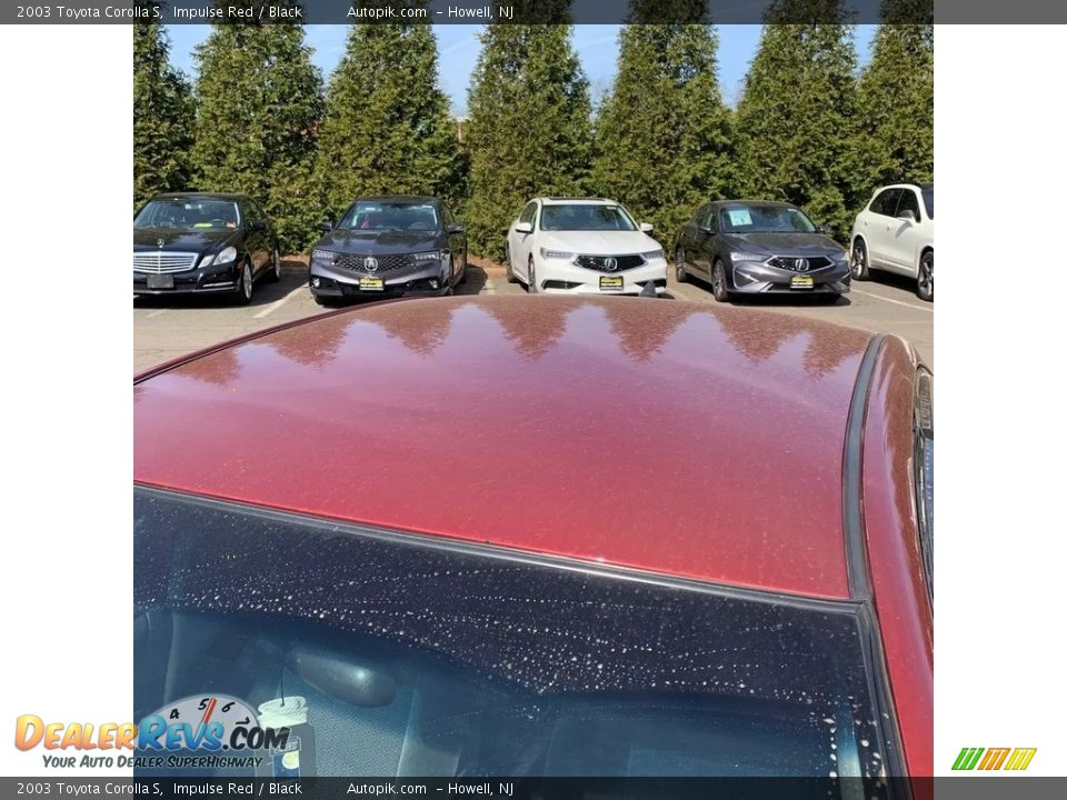 2003 Toyota Corolla S Impulse Red / Black Photo #9