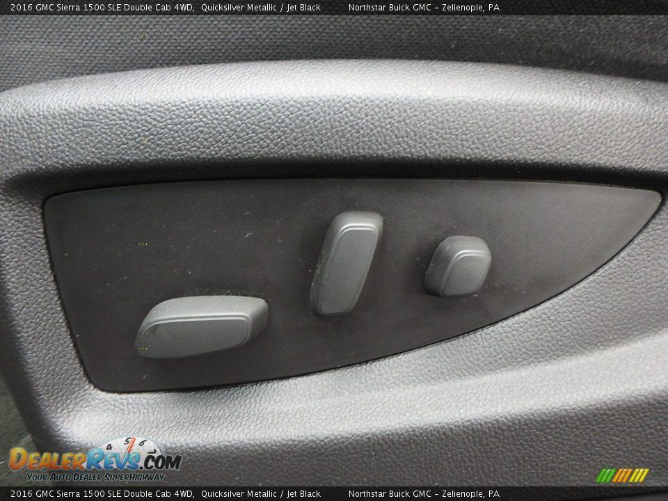2016 GMC Sierra 1500 SLE Double Cab 4WD Quicksilver Metallic / Jet Black Photo #22