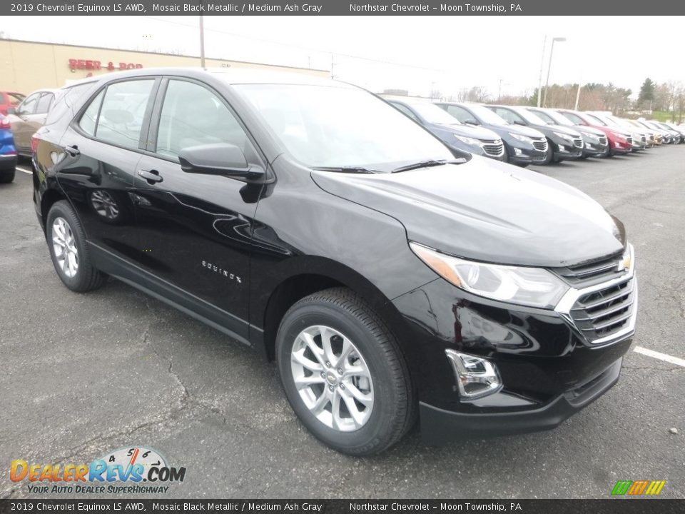 2019 Chevrolet Equinox LS AWD Mosaic Black Metallic / Medium Ash Gray Photo #8