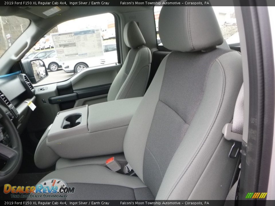 2019 Ford F150 XL Regular Cab 4x4 Ingot Silver / Earth Gray Photo #10