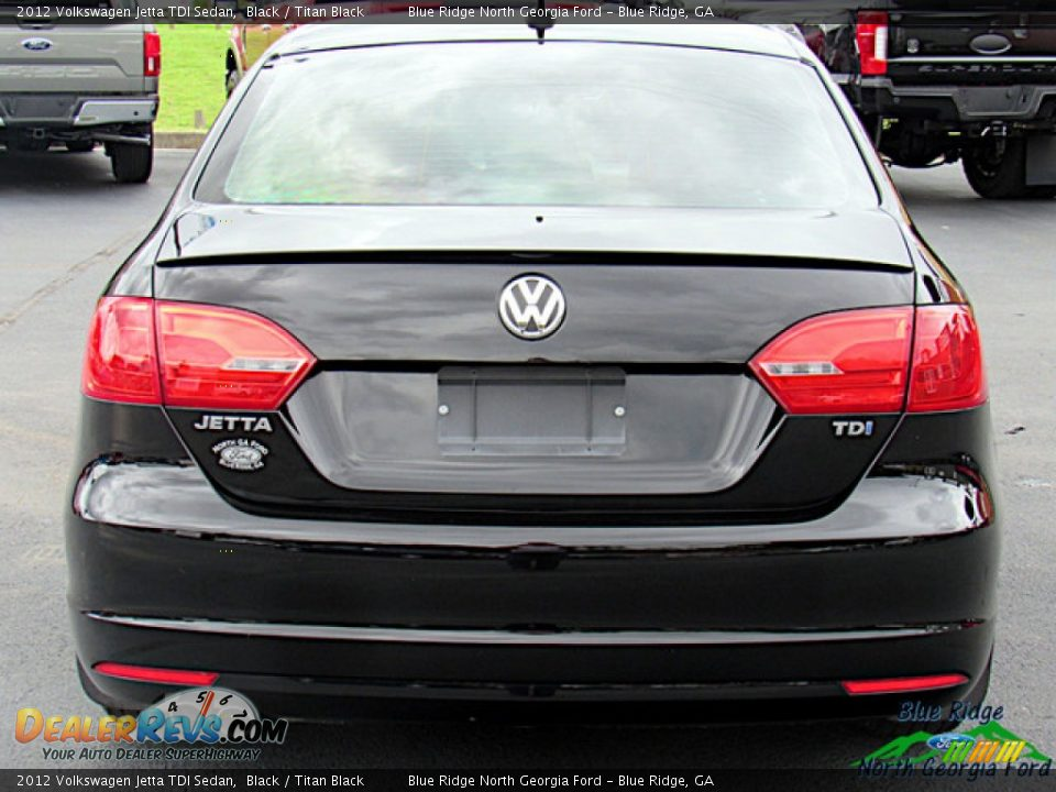 2012 Volkswagen Jetta TDI Sedan Black / Titan Black Photo #4
