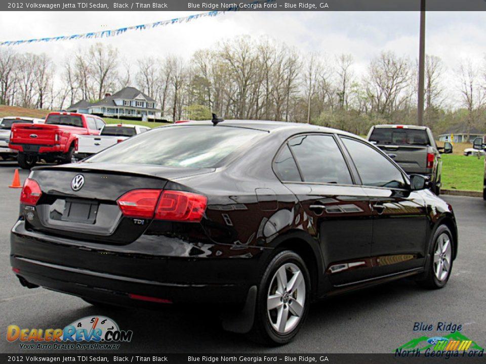 2012 Volkswagen Jetta TDI Sedan Black / Titan Black Photo #5