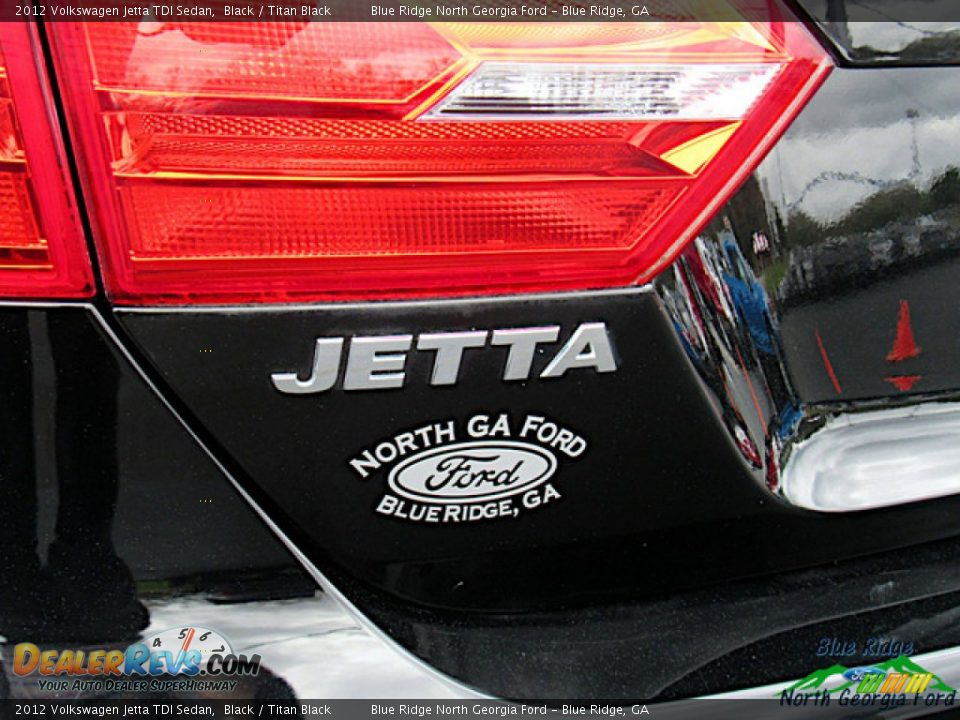 2012 Volkswagen Jetta TDI Sedan Black / Titan Black Photo #32