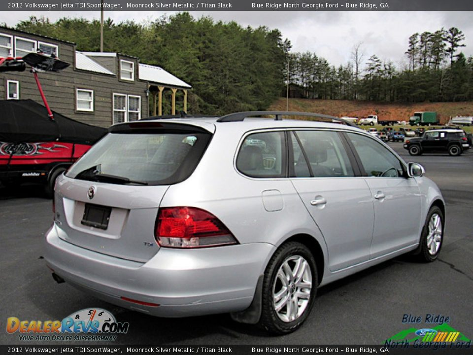 2012 Volkswagen Jetta TDI SportWagen Moonrock Silver Metallic / Titan Black Photo #5