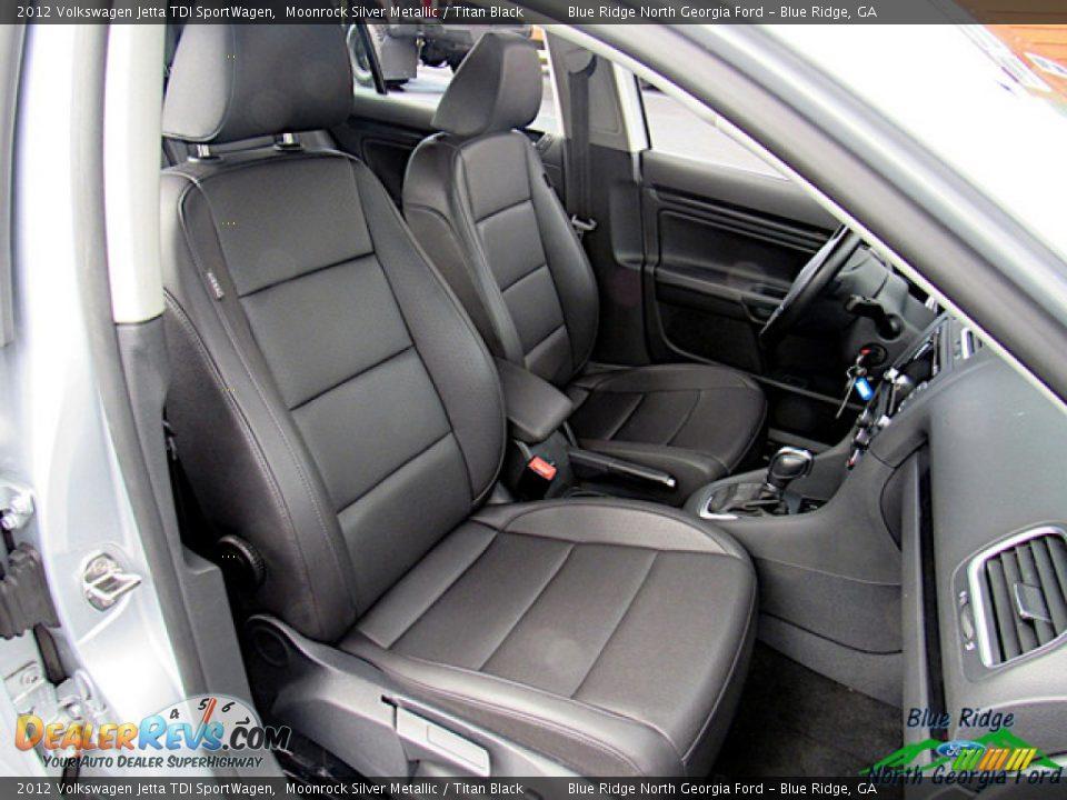 2012 Volkswagen Jetta TDI SportWagen Moonrock Silver Metallic / Titan Black Photo #11