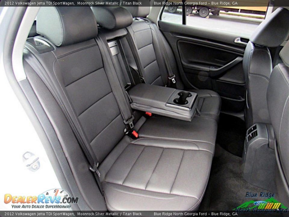 2012 Volkswagen Jetta TDI SportWagen Moonrock Silver Metallic / Titan Black Photo #12