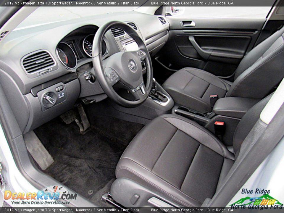 2012 Volkswagen Jetta TDI SportWagen Moonrock Silver Metallic / Titan Black Photo #25