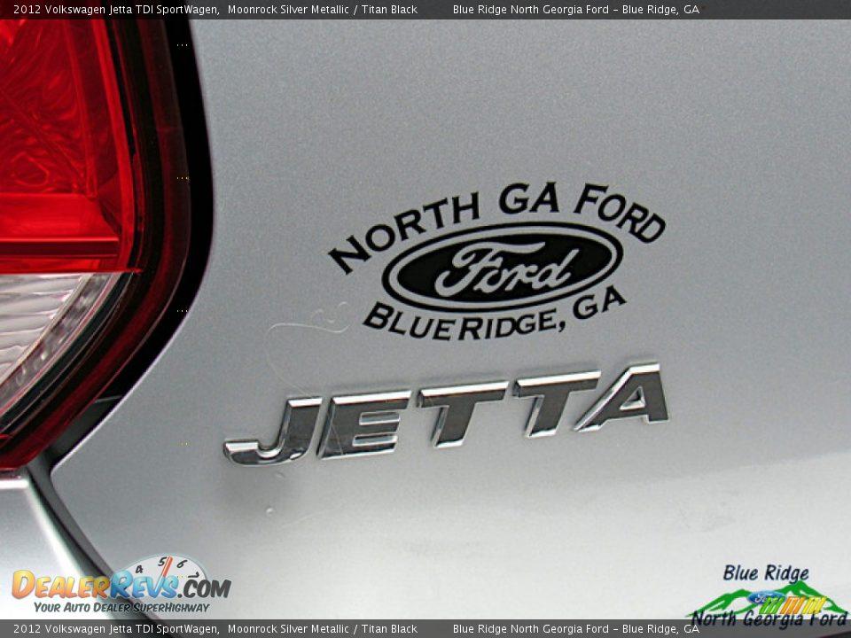 2012 Volkswagen Jetta TDI SportWagen Moonrock Silver Metallic / Titan Black Photo #32