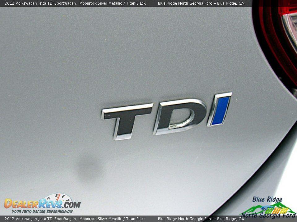 2012 Volkswagen Jetta TDI SportWagen Moonrock Silver Metallic / Titan Black Photo #33