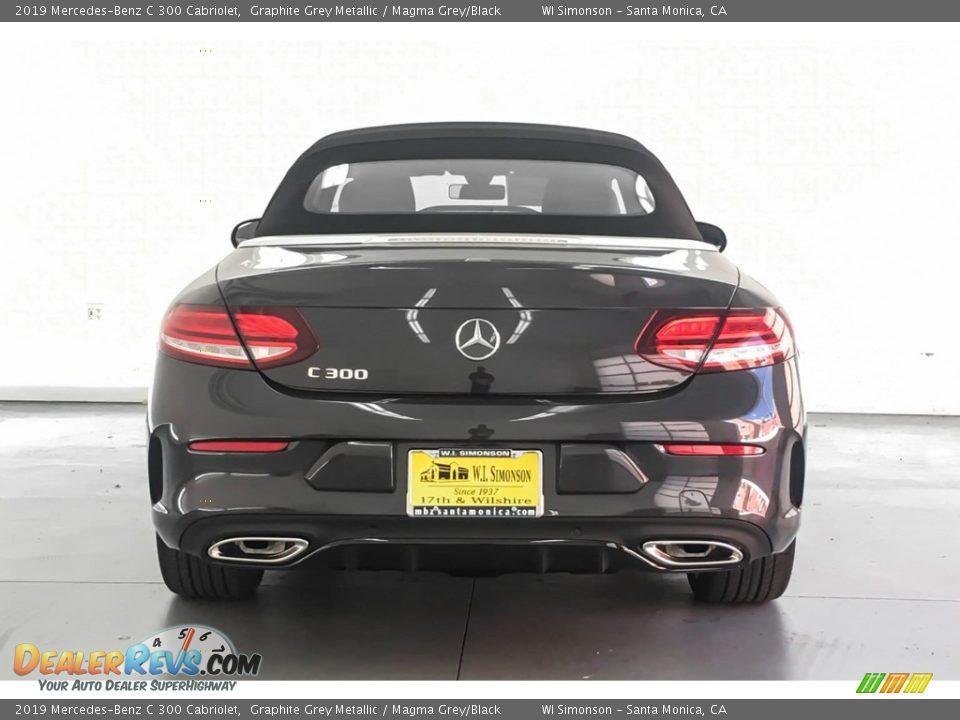 2019 Mercedes-Benz C 300 Cabriolet Graphite Grey Metallic / Magma Grey/Black Photo #3