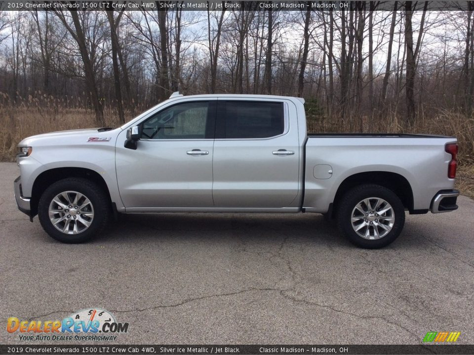 2019 Chevrolet Silverado 1500 LTZ Crew Cab 4WD Silver Ice Metallic / Jet Black Photo #3