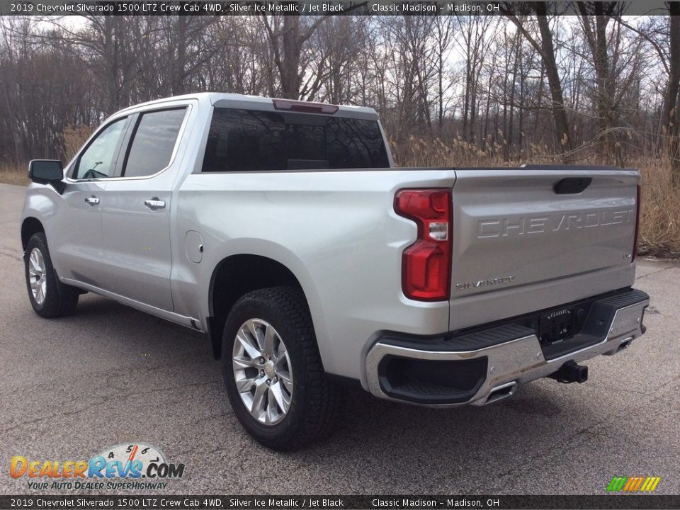 2019 Chevrolet Silverado 1500 LTZ Crew Cab 4WD Silver Ice Metallic / Jet Black Photo #4