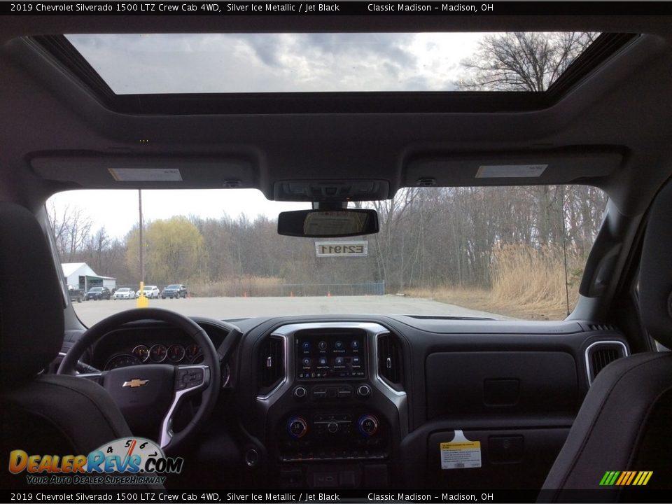 2019 Chevrolet Silverado 1500 LTZ Crew Cab 4WD Silver Ice Metallic / Jet Black Photo #11