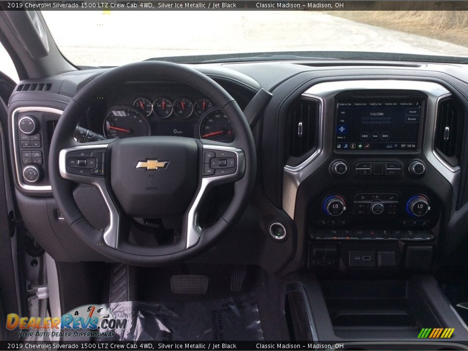 2019 Chevrolet Silverado 1500 LTZ Crew Cab 4WD Silver Ice Metallic / Jet Black Photo #13