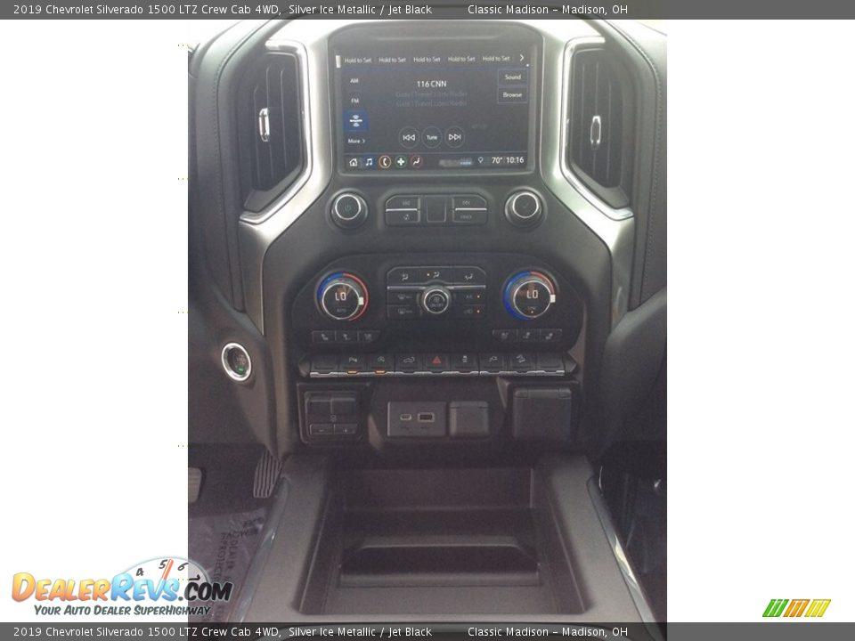 2019 Chevrolet Silverado 1500 LTZ Crew Cab 4WD Silver Ice Metallic / Jet Black Photo #14