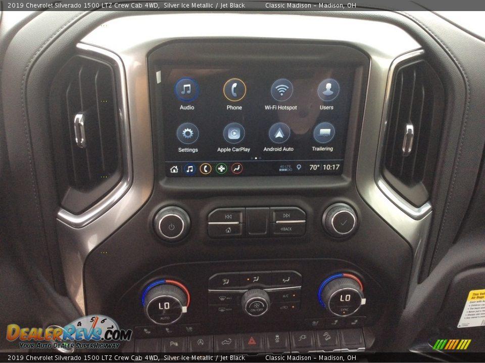 2019 Chevrolet Silverado 1500 LTZ Crew Cab 4WD Silver Ice Metallic / Jet Black Photo #15