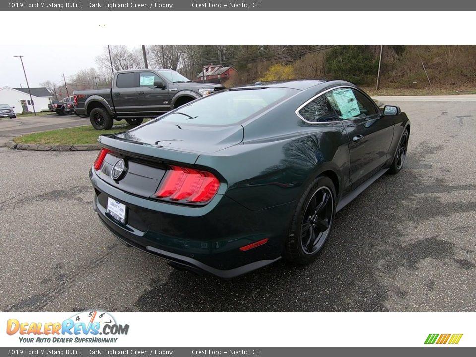 2019 Ford Mustang Bullitt Dark Highland Green / Ebony Photo #7