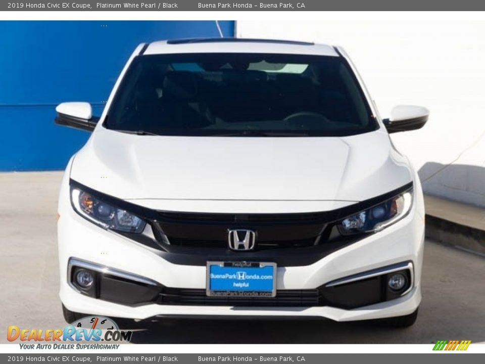2019 Honda Civic EX Coupe Platinum White Pearl / Black Photo #3