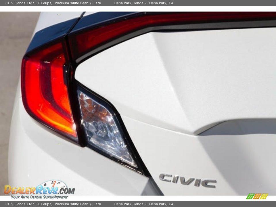 2019 Honda Civic EX Coupe Platinum White Pearl / Black Photo #7