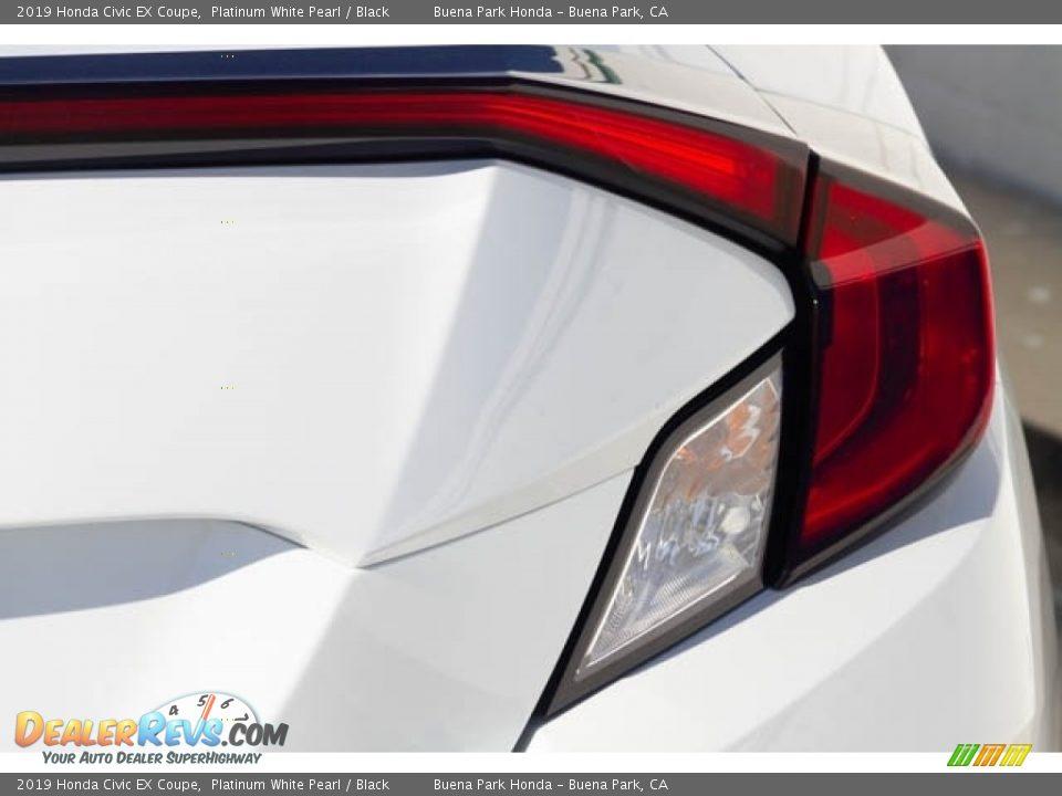 2019 Honda Civic EX Coupe Platinum White Pearl / Black Photo #8