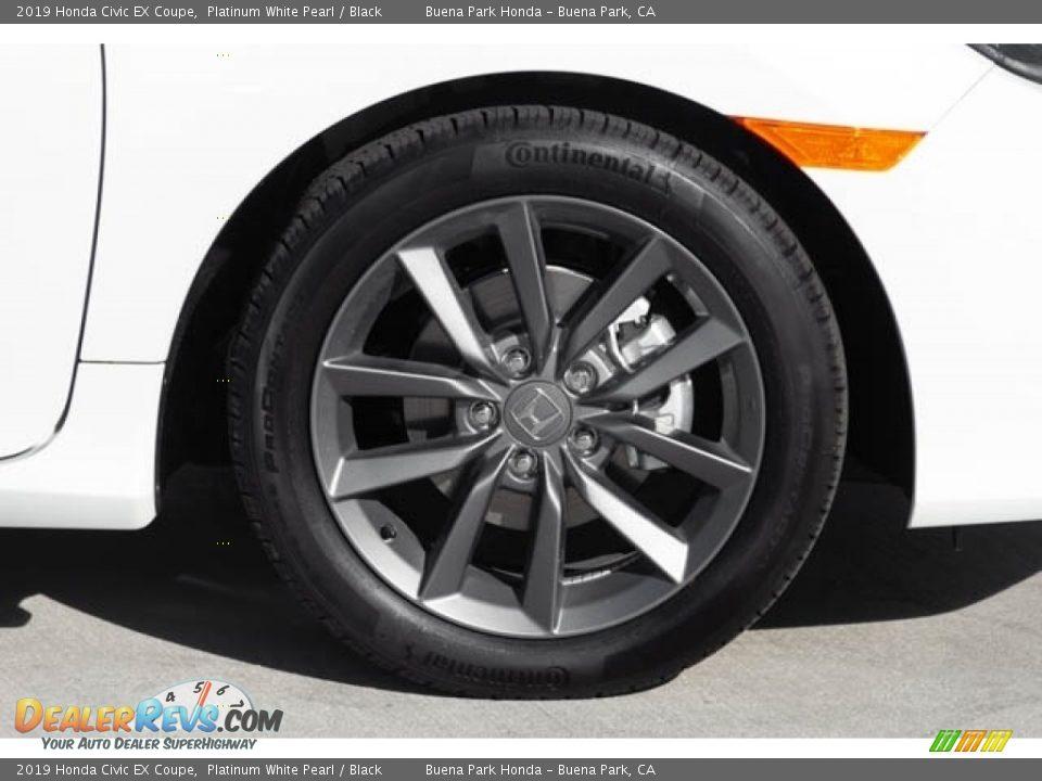 2019 Honda Civic EX Coupe Platinum White Pearl / Black Photo #12