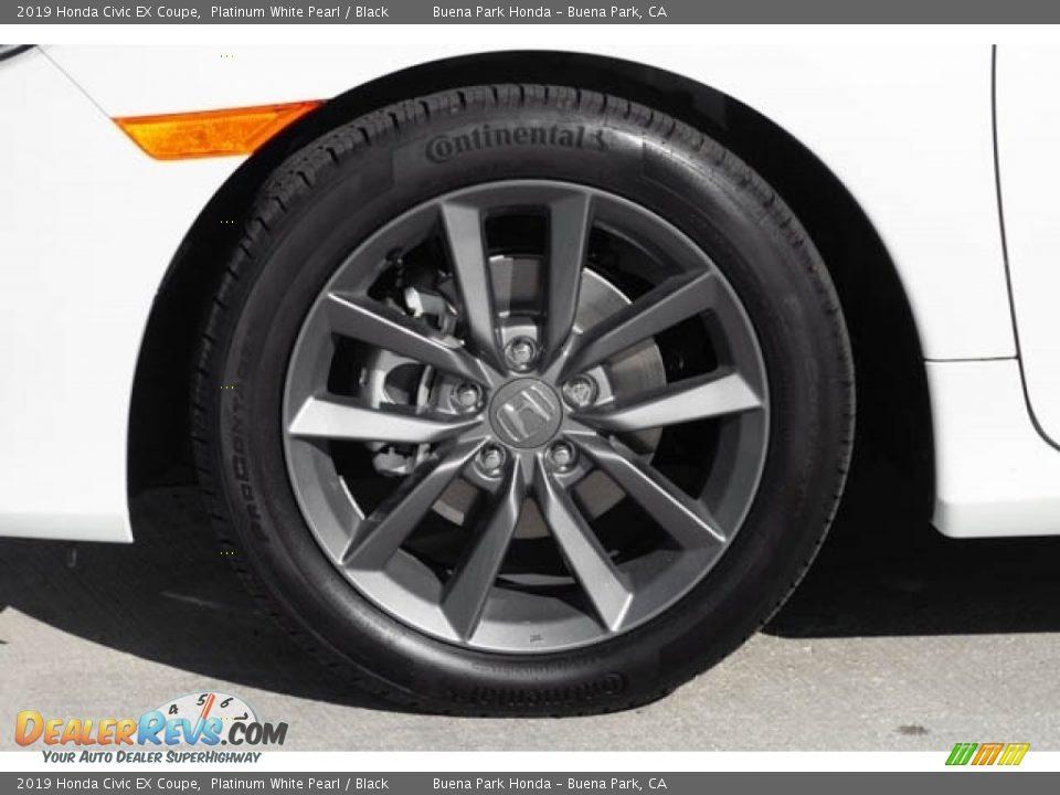 2019 Honda Civic EX Coupe Platinum White Pearl / Black Photo #14