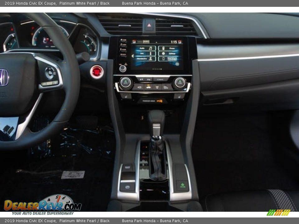 2019 Honda Civic EX Coupe Platinum White Pearl / Black Photo #19
