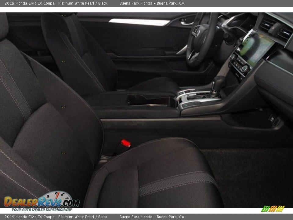 2019 Honda Civic EX Coupe Platinum White Pearl / Black Photo #29